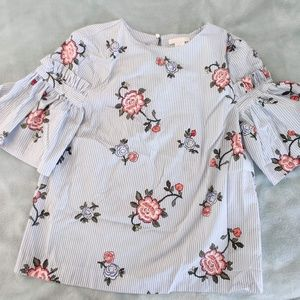 H&M Floral/Striped Blouse!